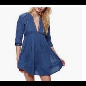 Free People Ho Lightly Deep Neck Hobo Dress Size M